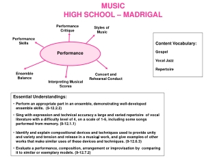 MUSIC HIGH SCHOOL – MADRIGAL