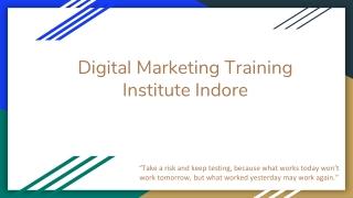 Digital Marketing Training Institute Indore