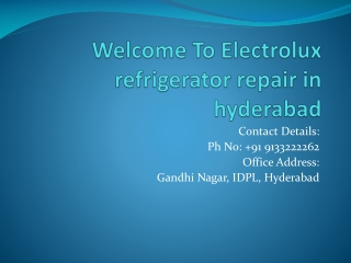 Electrolux Refrigerator repair in hyderabad