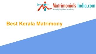 Best Kerala Matrimonial