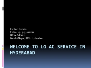lg Ac Service In Hyderabad