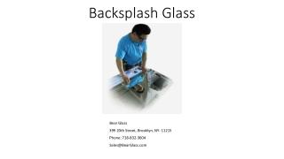 Back-splash glass in New York