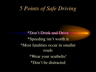 5 Points of Safe Driving