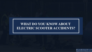 Liability In Scooter Accidents: Electric Scooter Accident Attorney Explains