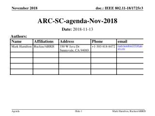 ARC-SC-agenda-Nov-2018
