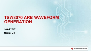 TSW3070 ARB WAVEFORM GENERATION