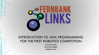 Introduction to Java programming for the first robotics competition