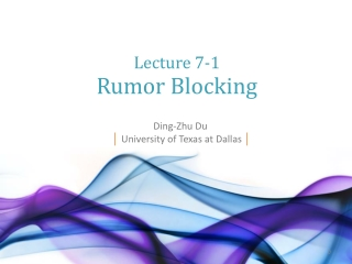 Ding-Zhu Du │ University of Texas at Dallas │