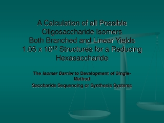 The Isomer Barrier to Development of Single-Method Saccharide Sequencing or Synthesis Systems