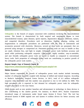 Orthopedic Power Tools Market 2025: Production, Revenue, Growth Rate, Price and Gross Margin