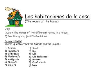 Las habitaciones de la casa (The rooms of the house)