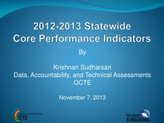 2012-2013 Statewide Core Performance Indicators