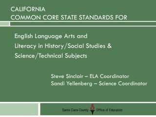 California Common Core STATE Standards for