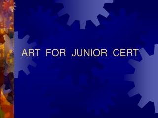 ART FOR JUNIOR CERT