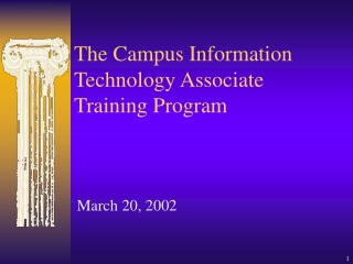 The Campus Information Technology Associate Training Program