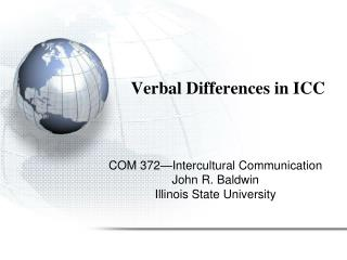 Verbal Differences in ICC
