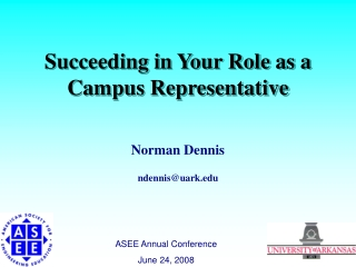 Succeeding in Your Role as a Campus Representative