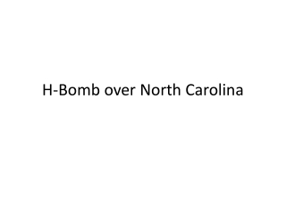 H-Bomb over North Carolina