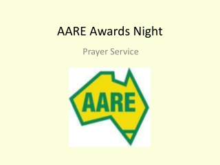 AARE Awards Night
