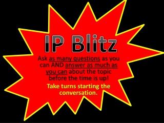IP Blitz