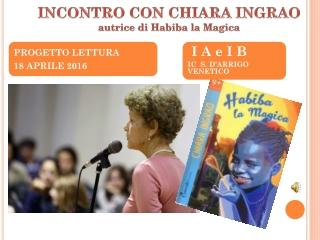 INCONTRO CON CHIARA INGRAO autrice di Habiba la Magica