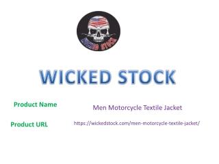 Men Motorcycle Textile Jacket