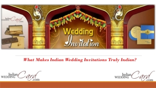 What Makes Indian Wedding Invitations Truly Indian