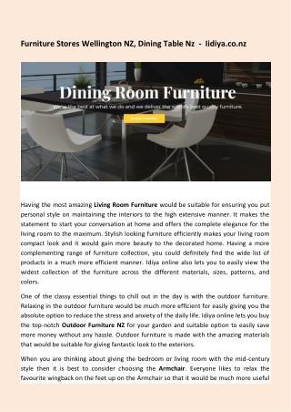 Furniture Stores Wellington NZ, Dining Table Nz - Iidiya.co.nz