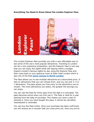 Everything You Need to Know About the London Explorer Pass