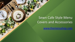 Sewn Cafe Style Menu Covers and Accessories.