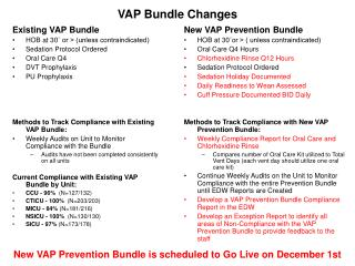 VAP Bundle Changes