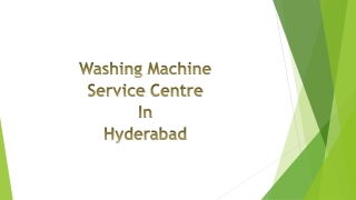 Washing Machine Service Centre in Hyderabad