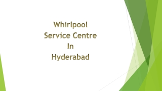 Whirlpool Service Centre in Hyderabad