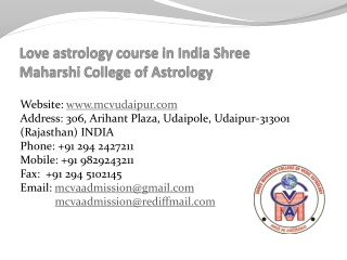 Love Astrology in India Shree Maharshi College of Astrology