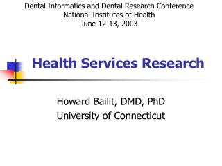 Health Services Research