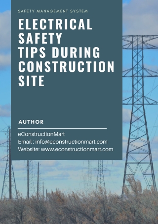 Electrical Safety tips during Construction Site