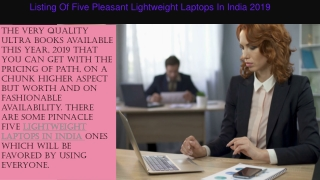 New Lightweight Laptops in India