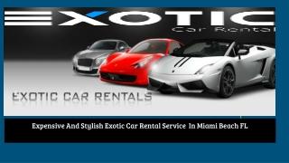 Hire A Luxurious Car In Miami,Florida