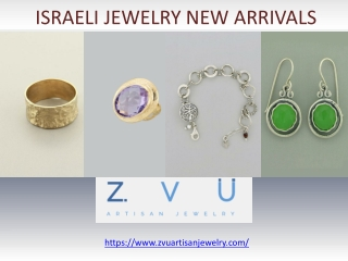 Israeli Jewelry New Arrivals