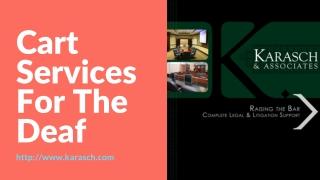 Cart Captioning | CART Services