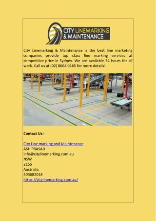 Line Marking Contractors | Line Marking