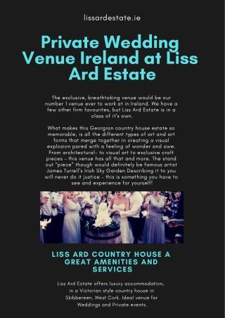 Private Wedding Venue Ireland at Liss Ard Estate