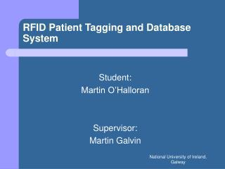 RFID Patient Tagging and Database System