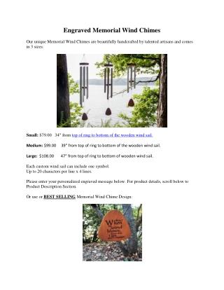 Engraved Memorial Wind Chimes
