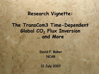 Research Vignette: The TransCom3 Time-Dependent Global CO 2 Flux Inversion … and More