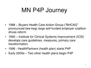 MN P4P Journey