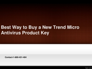 Best Way to Buy a New Trend Micro Antivirus Product Key