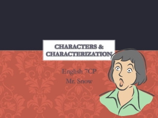Characters & Characterization