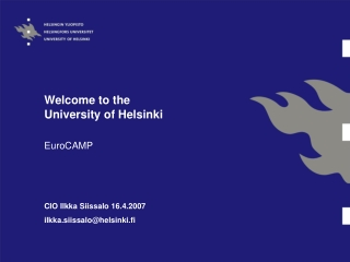 Welcome to the University of Helsinki
