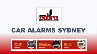 Cobra Australasia – The Need of Car Alarm Systems in The Recent Times